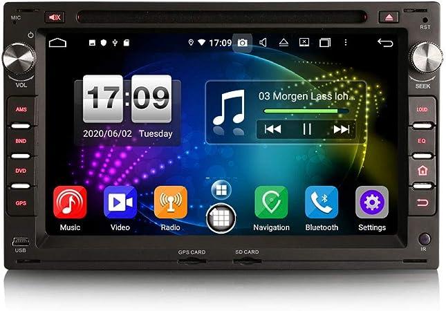 ERISIN 7 Pulgadas Android 10.0 Estéreo de Automóvil para VW ...