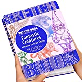 "Sketch Book – Spiral Bound Sketchpad with Drawing Paper – How To Draw Fantastic Creatures Drawing Book – 70 Sheets, 140 Pages, 8.3""x 5.8"""