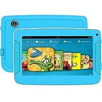 Tablet Android infantil con funda uso rudo para niños, pantalla HD de 7 pulgadas incluyendo almacenamiento interno 8GB,1 GB de RAM, wifi, bluetooth e iwawa preinstalado y control para padres (azul)