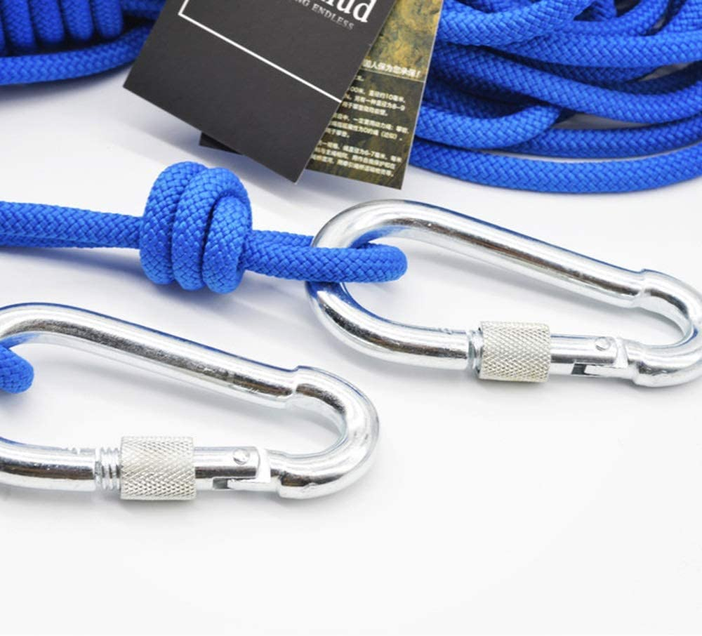 Jingdun Outdoor Climbing Rope Climbing Rope Safety Rope Umbrella Rope Tent Grab Knot Rope Rope Auxiliary Rope 6mm Blue Size : 80M 15 Sizes Ropes