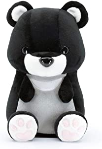 Bellzi Teddy Bear Cute Stuffed Animal Plush Toy - Adorable Soft Black Bear Toy Plushies and Gifts - Perfect Present for Kids, Babies, Toddlers - Moonbi