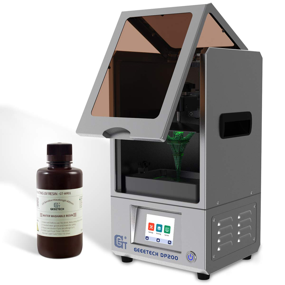 Geeetech LCD UV 405 nm Rapid Resin for 3D PRINTER green: Amazon.es ...