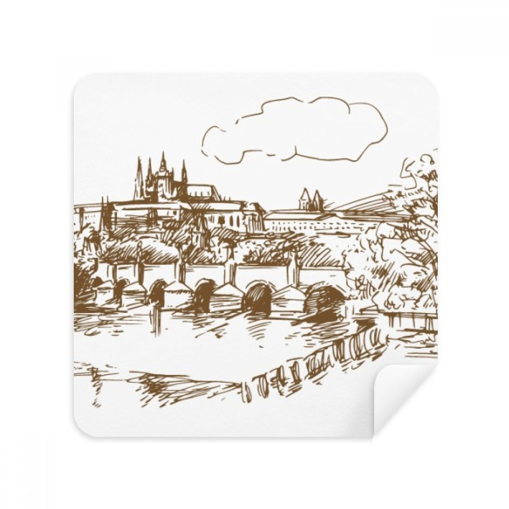 Charles Bridge Prague Czech Landmark Glasses Cleaning Cloth Phone Screen Cleaner Suede Fabric 2pcs DIYlab sku01396115b1392815f41