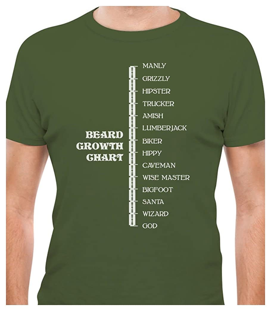 Tstars - Beard Length Ruler Funny Growth Chart Manly - Scale T-Shirt GM03aZgW