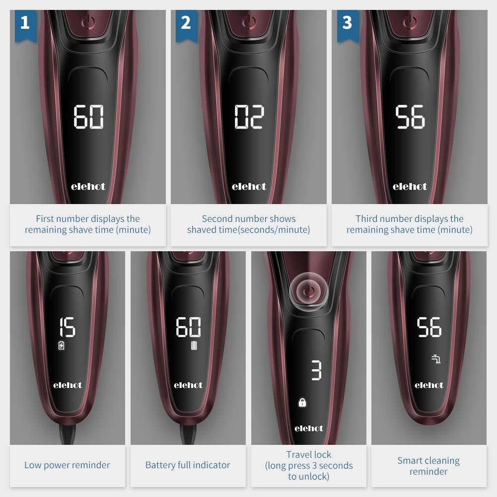 Amazon.com: ELEHOT - Cuchilla de afeitar eléctrica 3D ...