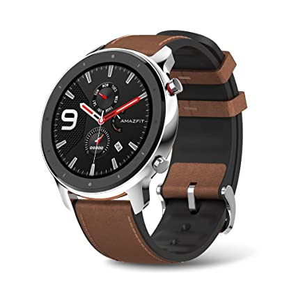 Amazfit GTR Stainless Steel Smartwatch with GPS+Glonass, All-Day Heart Rate Monitor, Daily Activity Tracker Rate and Activity Tracking, 24-Day Battery ...