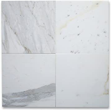 calacatta gold marble 12x12 tile honed