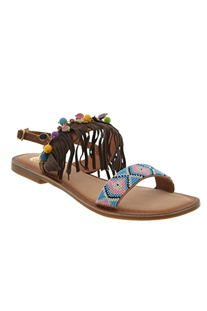 Gioseppo sandales - nu pieds  cheyenne marron marron - Chaussures Sandale Femme