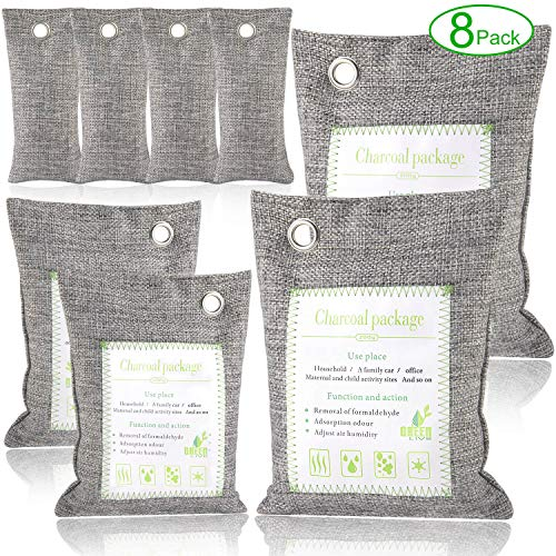- Bamboo Charcoal Air Purifying Bags Odor Eliminators for Home, Car and Office, 8 Packs Angbo