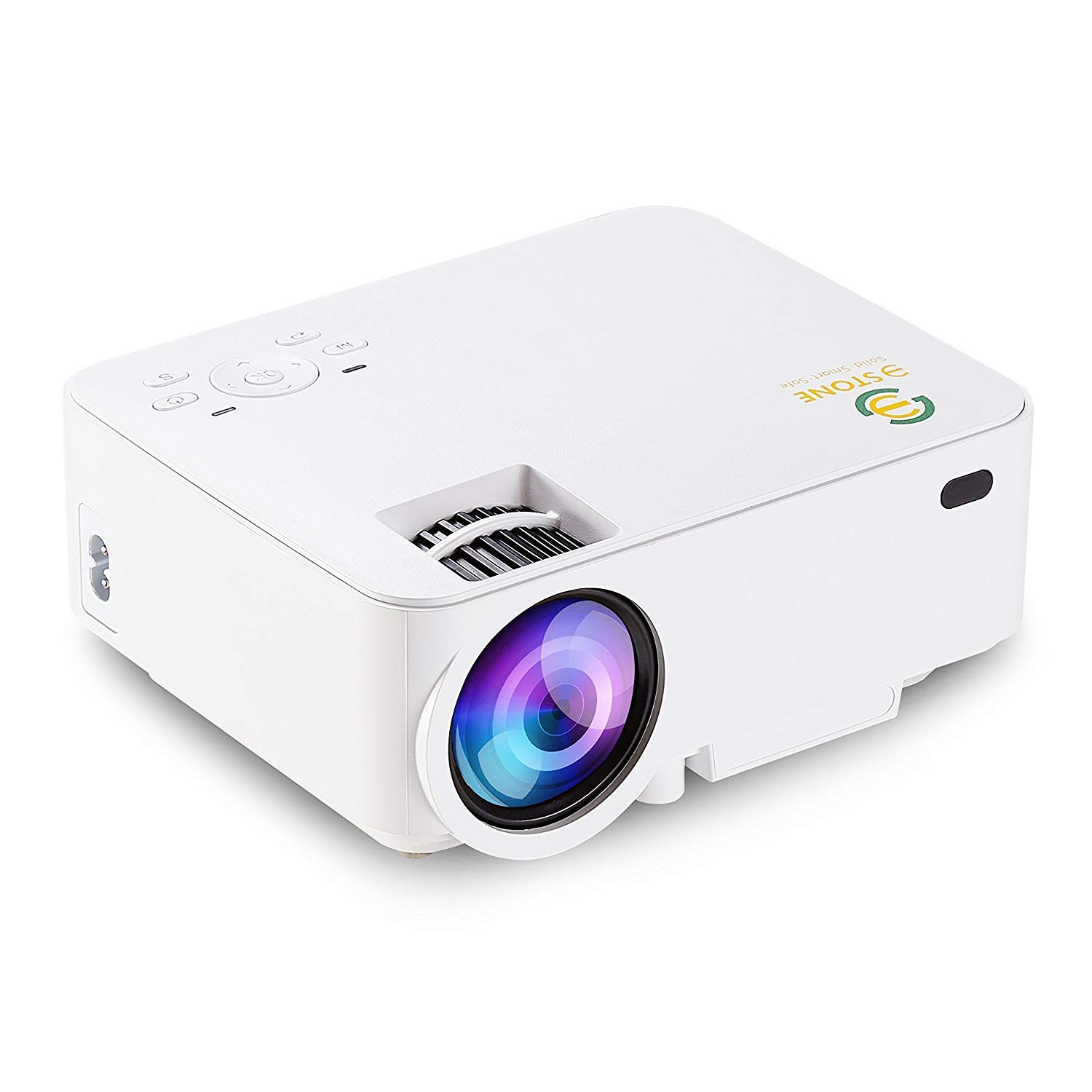 3 Stone 2018 Upgrade 1080p 1500 Lumens LCD Mini Projector, Home Theater Video Projector for TV Laptop SD Android TV Box Support HDMI USB SD AV VGA TV Interface