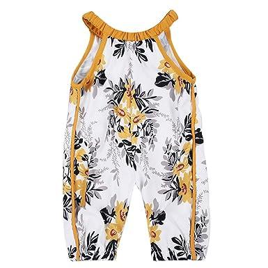 80766042bb21 Amazon.com  PHOTNO harem pants toddler baby girl Summer Straps ...