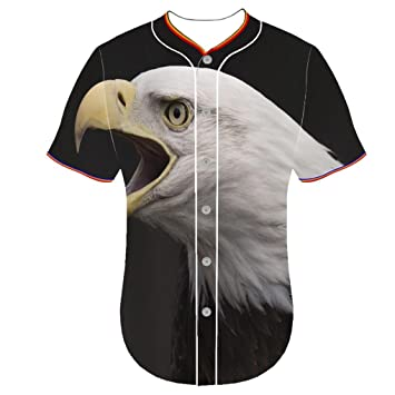 bgkaiquwen Arc Bottom Camisetas águila calva vmqp béisbol ...