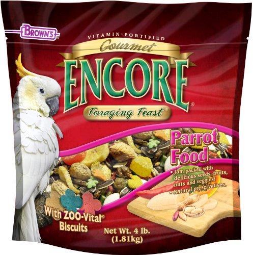 F.M.BROWN'S Encore Gourmet Parrot Food, Net Wt 4 lb