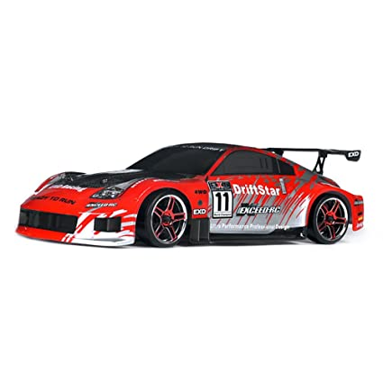 Exceed RC 1/10 2 4Ghz Electric DriftStar RTR Drift Car 350 Carbon Red  Version