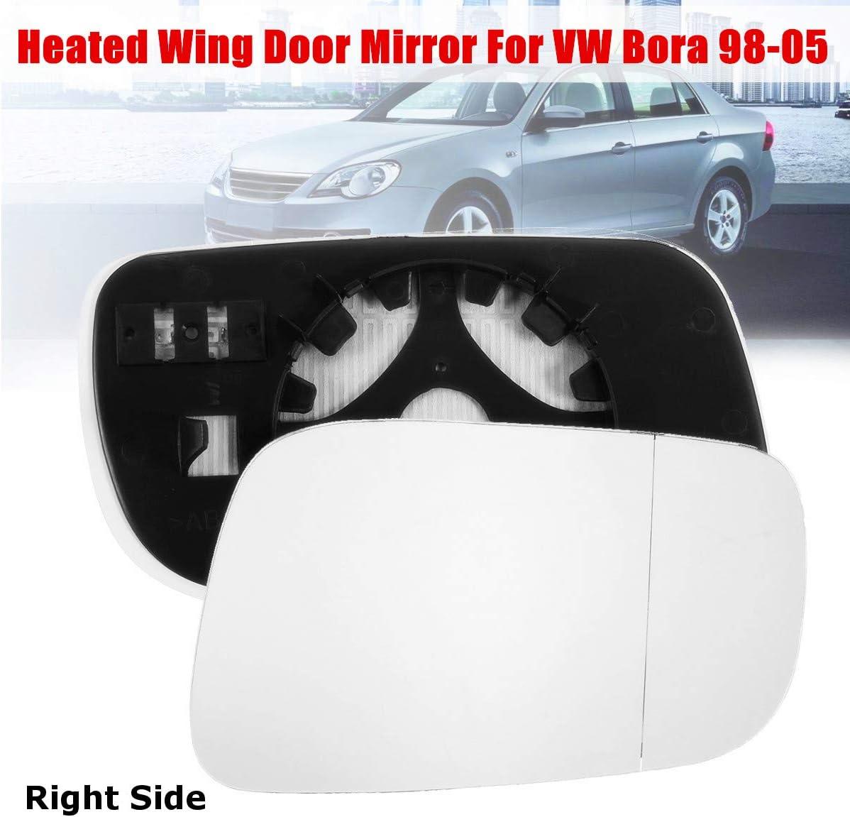 Left hand passenger side for VW Bora 1998-2005 wing mirror glass