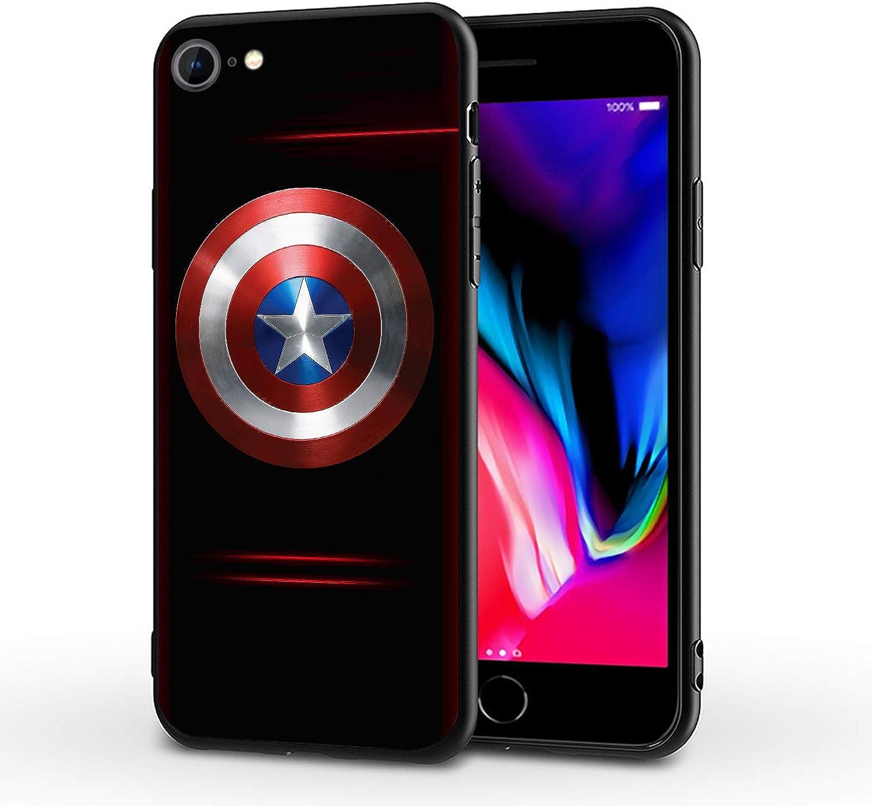 PUTEE Comics iPhone 7 Plus Case iPhone 8 Plus Case Full Body Protection Cover Cases (Captain-America, iPhone 7/8 Plus)