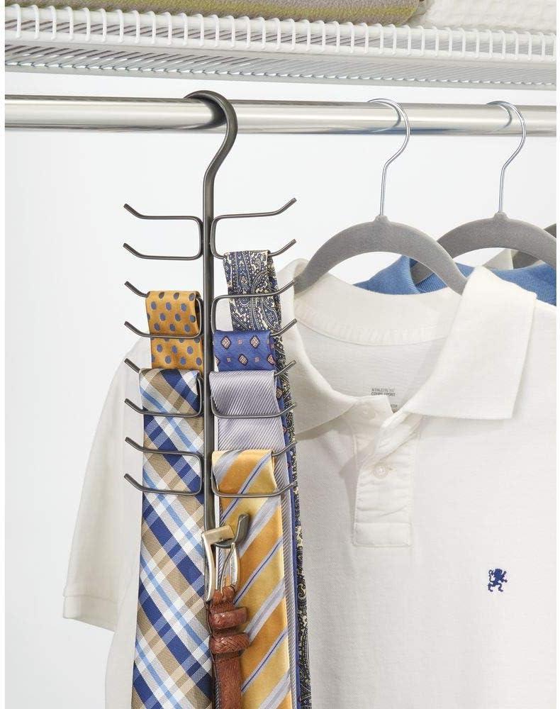Wifehelper Cruz Ajustable Corbata X Corbata Cintur/ón Bufandas Gancho Organizador del Soporte de la Suspensi/ón hasta 20 Corbatas o Correas