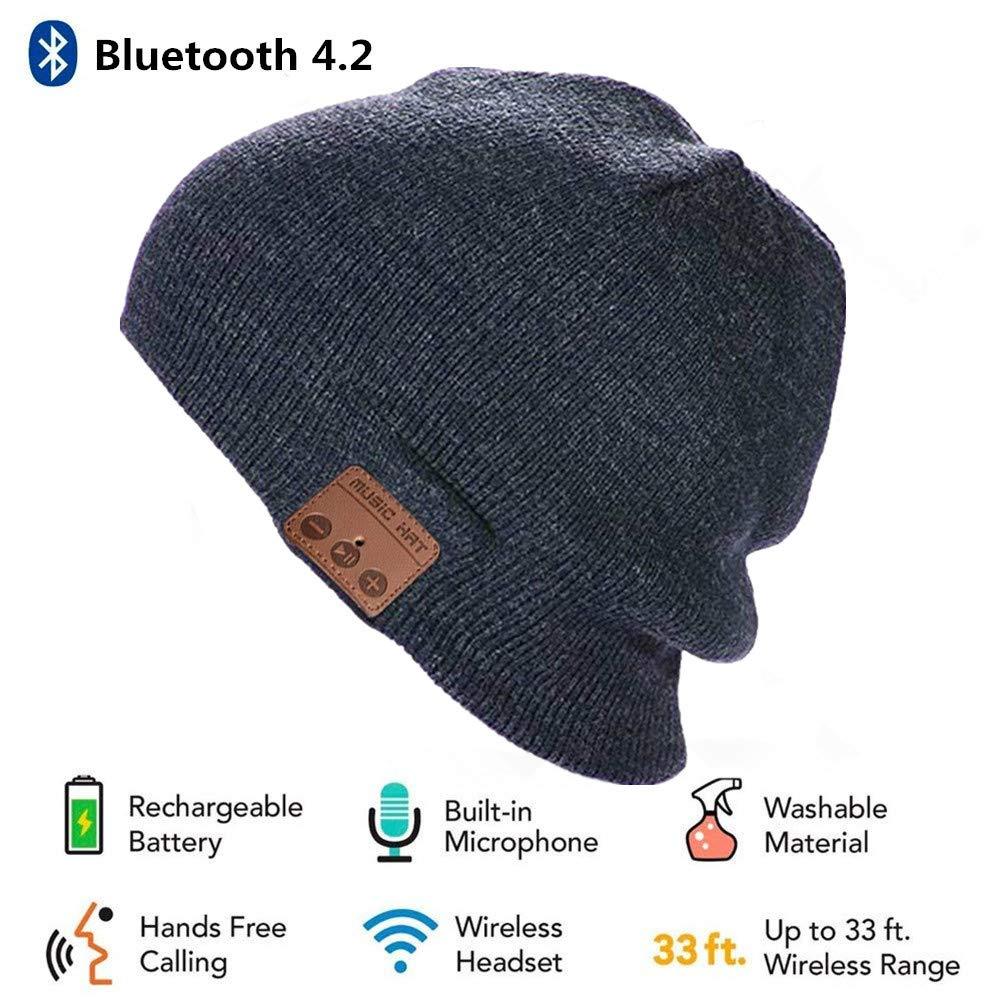 BearsFire® Fashion Wireless Bluetooth Knit Hat Receiver Headphone Speaker  Microphone Beanie Hat Cap Headphone Headset Earphones MP3 Speaker Music  Player for ... 3b438bde8dc1