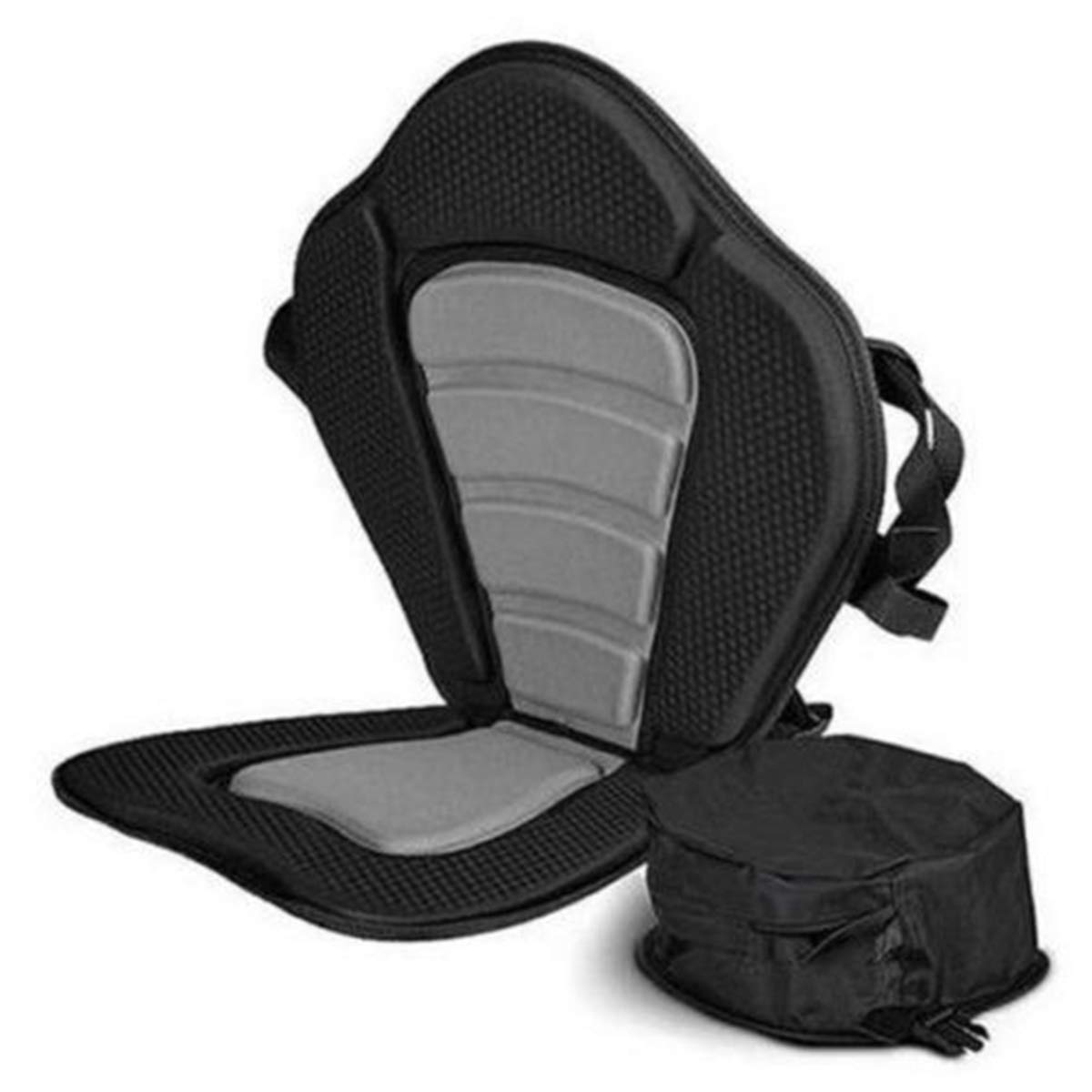 Heavens Tvcz Professional Seat Kayak Backrest Adjustable Deluxe Boat Seat Soft Comfort Deluxe Cushion Anti Skid Padded with Detachable Seat Bag