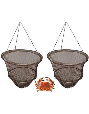 FiNeWaY - Juego de 2 redes de pesca, incluye: cierre a red con cebo