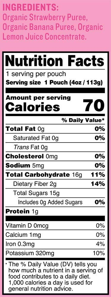Peter Rabbit Organics Strawberry and Banana 100% Pure Fruit Snack, 4 Ounces Squeeze Pouch, (Pack of 18) (Pack of 18) by Peter Rabbit (Image #3)