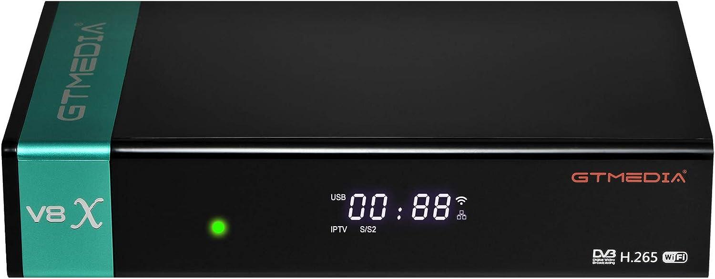 GT MEDIA V8 X Decodificador Satelite DVB-S2X Full HD 1080p con WiFi / Ethernet / SCART / Tarjeta Lector, Soporte Multi-Stream / T2MI, Youtube CCcam ...