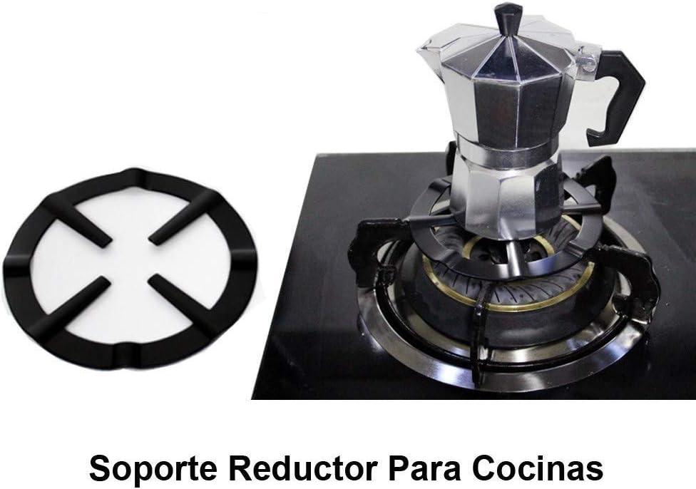 SEESEESEESEEUU Moka Pot, Estantes de cocina de gas de acero duradero, reductor de soporte de estante para cafetera, anillo de cocción a fuego lento: Amazon.es: Hogar