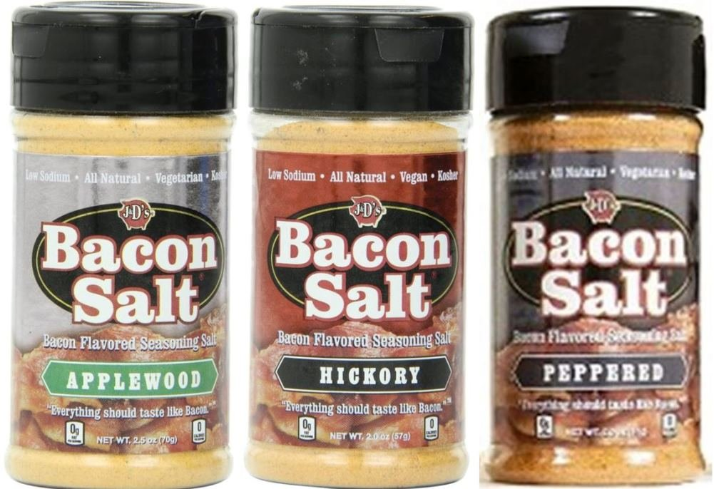 J&D's Bacon Salt Variety Pack, Low Sodium & Natural (Pack of 3) by J&D's Foods