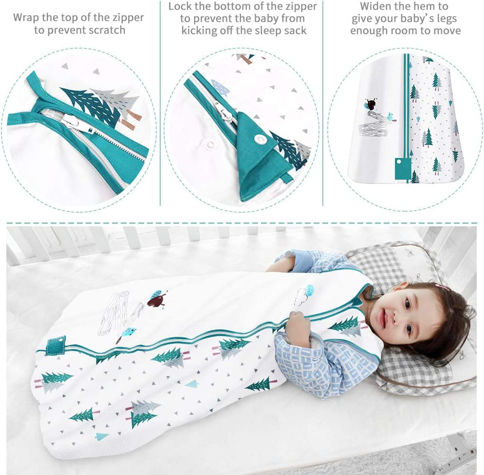 Saco de Dormir para Beb/é 1.0 Tog Algod/ón Suave Comodidad Ligero Reci/én Unisex para Beb/és MUBYTREE 0-6 meses