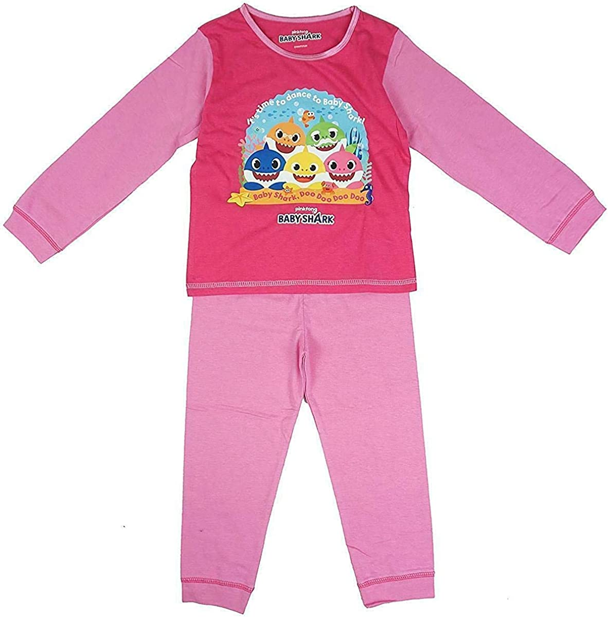 Kids Girls Official Pinkfong Baby Shark Pyjamas Character