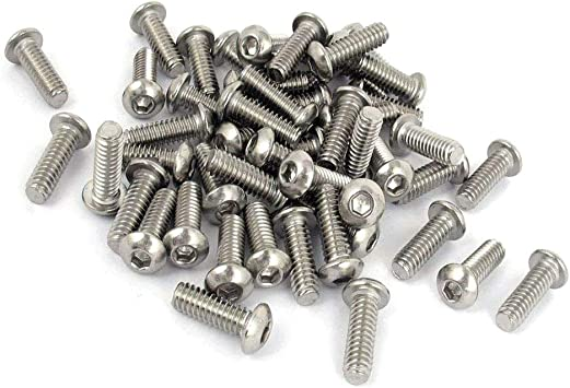 """4 Ba X 1 y 1//2/"""" tornillos de acero acabado Negro De Cabeza Cilíndrica cantidad 10"""