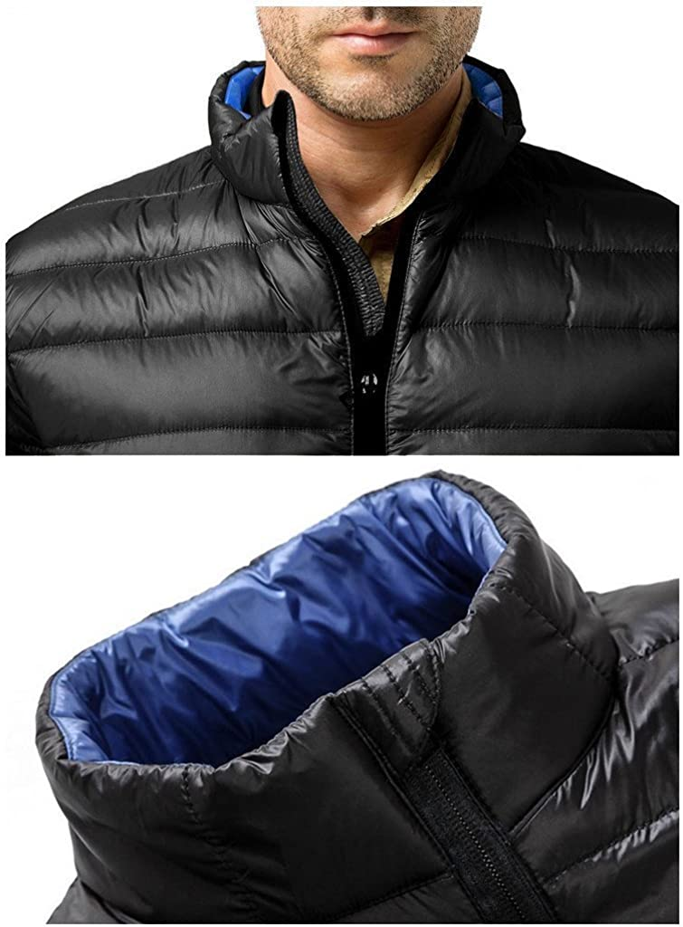 ZSHOW Mens Down Jacket Packable Stand Collar Down Outerwear Coat