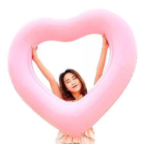 Naisidier Flotador Inflable en Forma de Amor Corazon tamaño Gigante para la Piscina o Playa,Labios Flotador Hinchable para la Piscina o la Playa: Amazon.es: ...