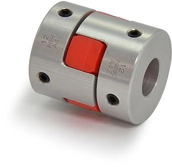 A2017 Aluminum Clamping Type 18 mm and 1-3//8 Bore Diameters NBK MJC-65CS-GR-18-1 3//8 Jaw Flexible Coupling