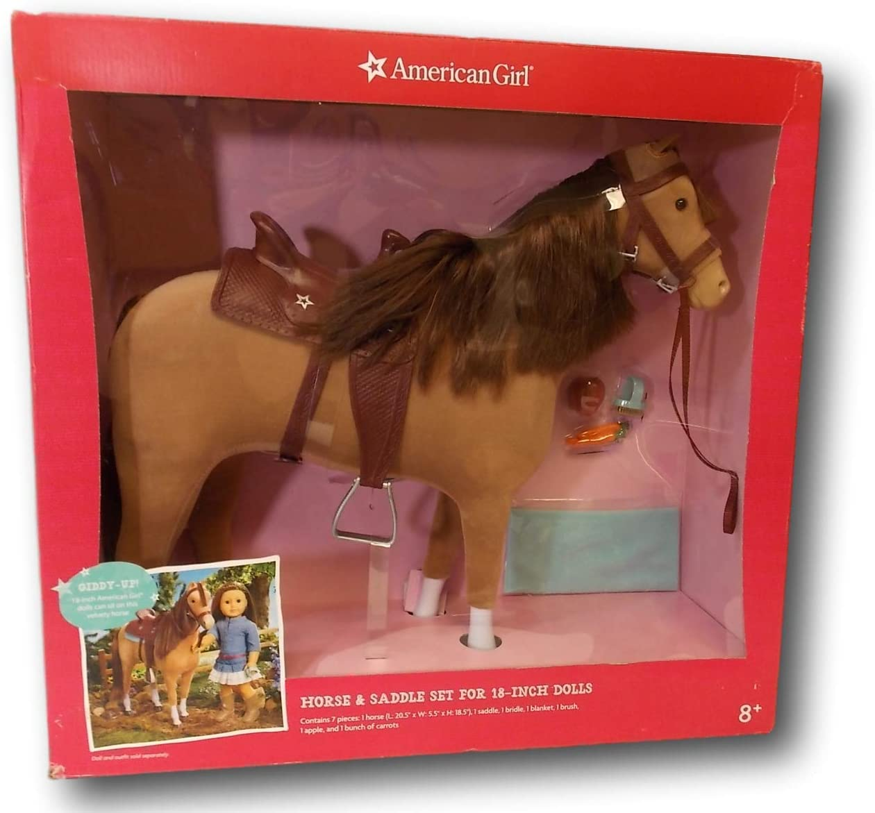 """My Life As Horse Accessories for 18/"""" Doll American Generation 8 Piece Set"""
