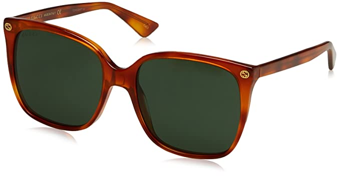 84ed6e142 Image Unavailable. Image not available for. Colour  Gucci Sunglasses Gucci  GG 0022 S- 002 ...