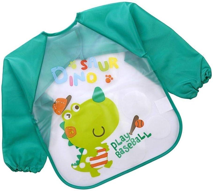 Beaums Belle bavoirs b/éb/é manches longues b/éb/é imperm/éable alimentation Smock enfants en plastique Salopette Bib enfant en bas /âge /écharpe