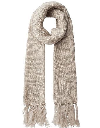 02999b4bd Pieces Jolien Long Scarf in Whitecap Grey: Amazon.co.uk: Clothing