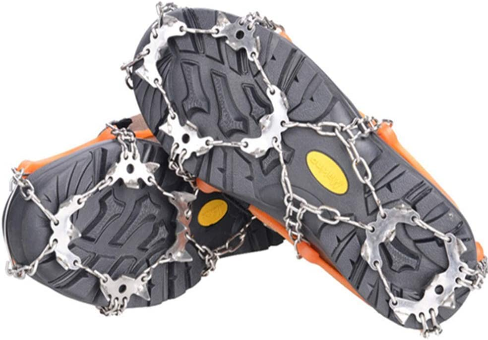 BaiYouDa 19 Tooth Crampons Non-Slip Shoe Cover Traction Cleats Ice Snow Grips Outdoor Climbing Ice Climbing Snow Claw 1 Pair