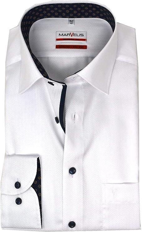 Marvelis Modern Fit New Kent - Camisa para hombre, estructurada 00 49: Amazon.es: Ropa y accesorios