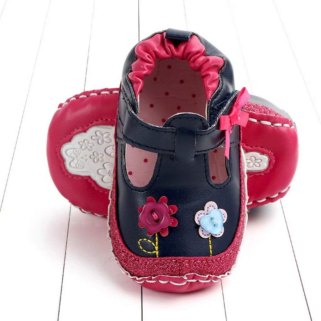 Newborn Girls Shoes Baby Toddler Flower Cartoon First Walkers Soft Sole Casual Shoes