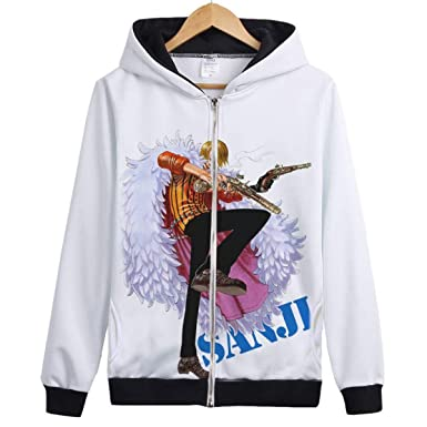 Amazon.com: WEEKEND SHOP One Piece Hoody Sanji Roronoa Zoro Monkey D Luffy Hoody Jacket One Piece Hoodie: Clothing