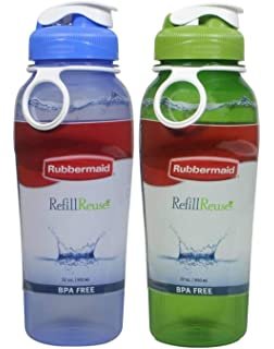 e2a9ea04d6 Rubbermaid Refill Reuse Chug Water Bottles, Flip-Top Lid, BPA-Free,