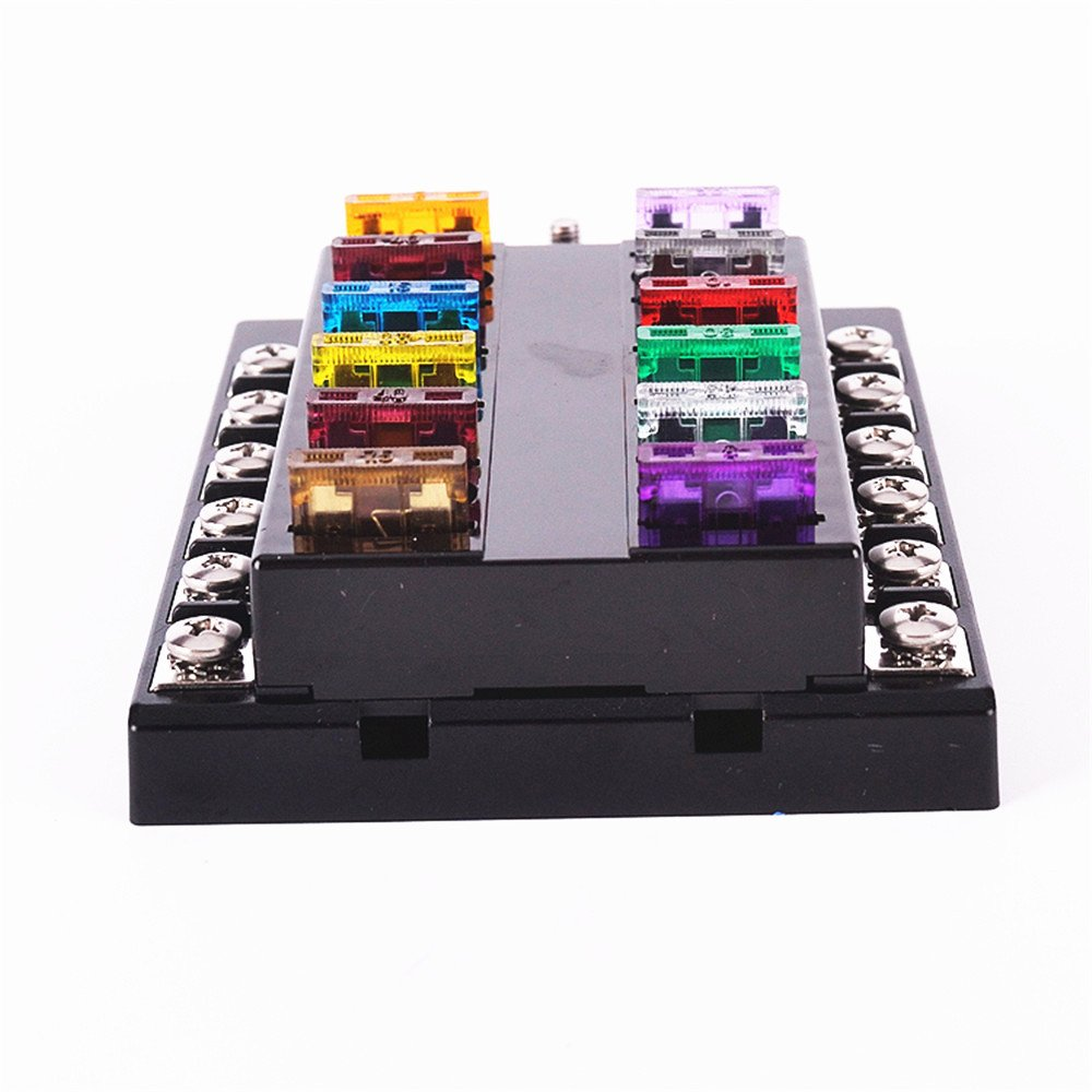 Iztoss Dc 32v 12 Way Terminals Circuit Atc Ato Car Auto Blade Fuse Box Block Holder