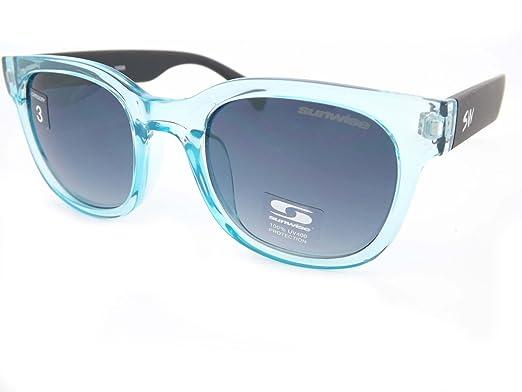 Gafas de sol Sunwise Breeze cristal azul con gradiente gris ...