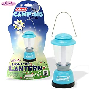 Sophia's Aqua Coleman Doll Lantern Accessory, Perfect for The 18 Inch Camping American Girl Dolls & More! Doll Sized Lantern in Aqua Licensed by Coleman, Doll Items of 18 Inch Doll