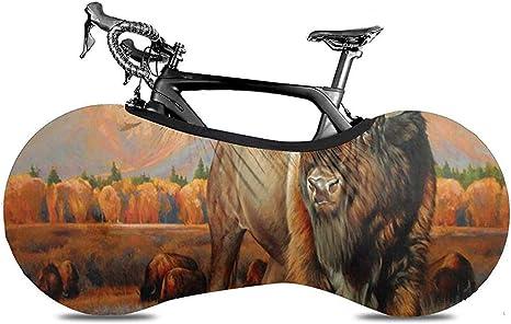 Cubierta De Rueda De Bicicleta,Autumn Bison Wild Animals Cubiertas Excelentes para Bicicletas para Bicicletas Bicicleta De Carretera: Amazon.es: Deportes y aire libre