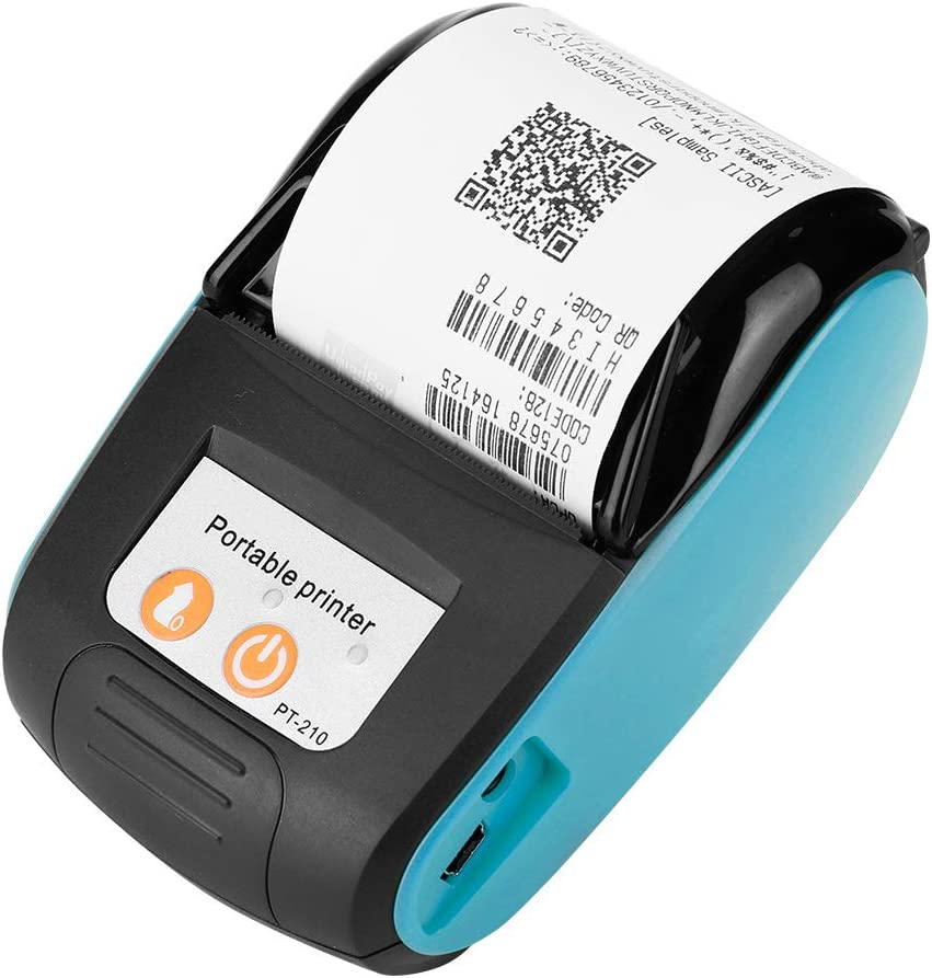 Garsent 58mm Impresora de Recibos térmica inalámbrica, Mini Impresora térmica portátil Bluetooth con impresión de Alta Velocidad Impresora POS Mobile para Andr