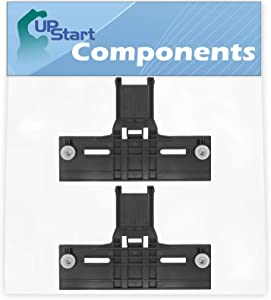 2-Pack W10350376 Dishwasher Top Rack Adjuster Replacement for KitchenAid KUDS35FXBL4 Washer - Compatible with W10350376 Rack Adjuster Dishwasher Upper Top Adjuster with Wheels - UpStart Components