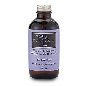 Karma Organic beauty natural Soybean Lavender Nail Polish Remover Nontoxic vegan cruelty free (4 fluid ounce)